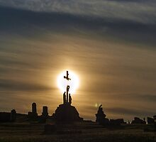 Pittsburgh Cemetery at Sunset (3) by BLaskowsky