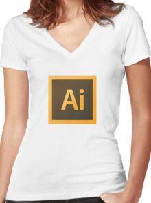 Adobe Illustrator. Women's Fitted V-Neck T-Shirt