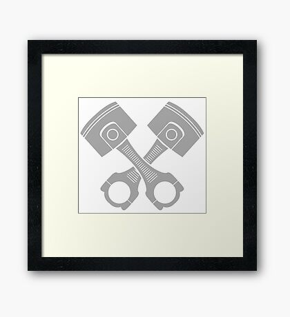 engine piston Framed Print