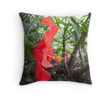 Another Hibiscus Throw Pillow