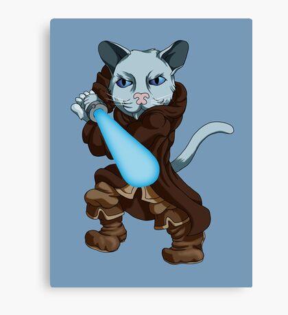 Jedi Kitten Canvas Print
