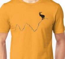 Ibex on mountain top  Unisex T-Shirt