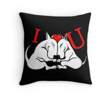 English Bull Terrier Valentines Day Design Throw Pillow