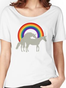 Unicorn Under the Rainbow Women's Relaxed Fit T-Shirt