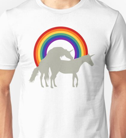 Unicorn Under the Rainbow Unisex T-Shirt