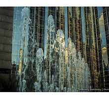 Fountain Downtown Pittsburgh  by BLaskowsky