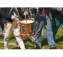 Stylized photo of Civil War re-enactors marching back to camp from the battlefield. Photographic Print