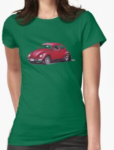 Volkswagen Beetle 1957. Womens Fitted T-Shirt