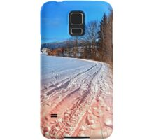 Hiking through a beautiful winter scenery | landscape photography Samsung Galaxy Case/Skin