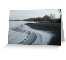 tidal ripples Greeting Card