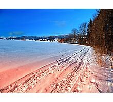 Hiking through a beautiful winter scenery | landscape photography Photographic Print