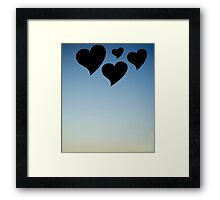 Love hearts shapes photograph romantic valentines day design Framed Print