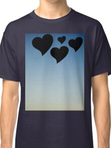 Love hearts shapes photograph romantic valentines day design Classic T-Shirt