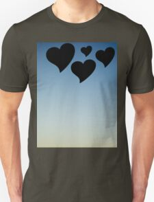 Love hearts shapes photograph romantic valentines day design T-Shirt