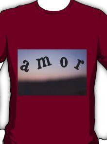 Amor Love palabra foto para el dia de San Valentin T-Shirt