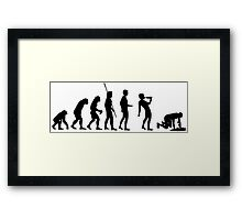 Evolution drinking Framed Print