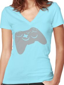 x-box controller Women's Fitted V-Neck T-Shirt