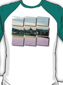 Village skyline in vibrant winter wonderland | landscape photography T-Shirt