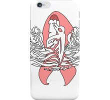 Submariner Supporter Pin with Cancer Awareness Ribbon Ver 3 iPhone Case/Skin