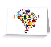 Brasil Nations Greeting Card