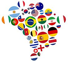 Brasil Nations Photographic Print