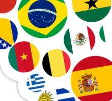Brasil Nations Sticker