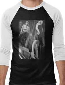 Shop dummy female mannequins black and white 35mm analog film photo Men's Baseball ¾ T-Shirt