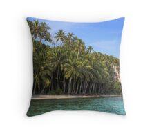 Indonesian Beach Throw Pillow