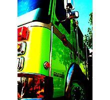 Fire Wagon Photographic Print