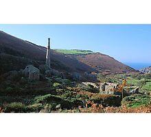 Mine ruins, Cornwall Photographic Print