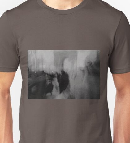 Couple kissing in street Arc de Triomphe Paris Champs Elysees Lomo LCA lomographic analog film photo Unisex T-Shirt