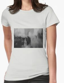 Couple kissing in street Arc de Triomphe Paris Champs Elysees Lomo LCA lomographic analog film photo Womens Fitted T-Shirt