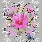 Swirlee pink and grey by Koekelijn