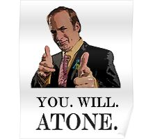 You. Will. Atone Poster