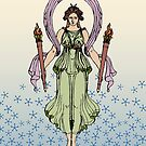 Luminous Goddess & Torches by Zehda