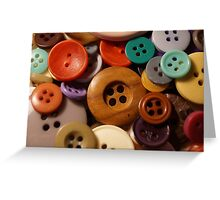 Buttons Greeting Card