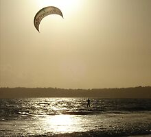 Kite surfer by Victoria Kidgell