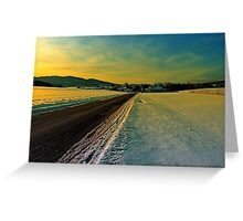 Winter road into dusk | landscape photography Greeting Card