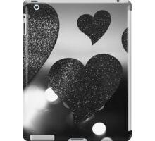 Four love hearts in silhouette night bokeh dof photo iPad Case/Skin