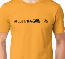 Motorcycle evolution wheelchair Unisex T-Shirt