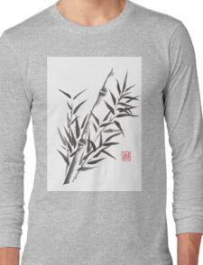No doubt bamboo sumi-e painting Long Sleeve T-Shirt