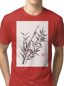 No doubt bamboo sumi-e painting Tri-blend T-Shirt