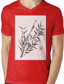No doubt bamboo sumi-e painting Mens V-Neck T-Shirt