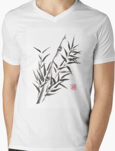 No doubt bamboo sumi-e painting Mens V-Neck T-Shirt