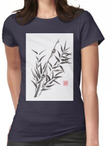 No doubt bamboo sumi-e painting Womens Fitted T-Shirt