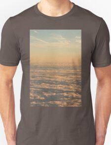 Sky with clouds in blue and pink sunset evening colors photo T-Shirt
