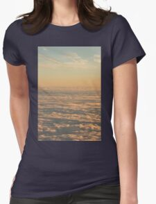 Sky with clouds in blue and pink sunset evening colors photo Womens Fitted T-Shirt