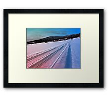Path up to the mountains in winter time | landscape photography Framed Print