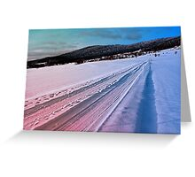 Path up to the mountains in winter time | landscape photography Greeting Card