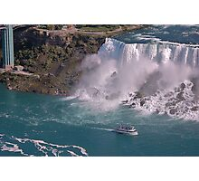 A ship in Niagara Falls State Park Photographic Print